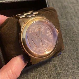 Michael Kors Rose Gold Watch w Box
